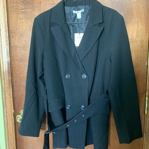 Belted Double Breasted Blazer NWT